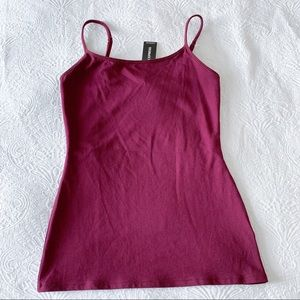 Express Ruby Scoop Neck Cami Tank Top